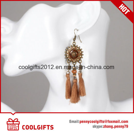 Wholesale Hot Selling Party Round Coffee Tassels Earrings pictures & photos