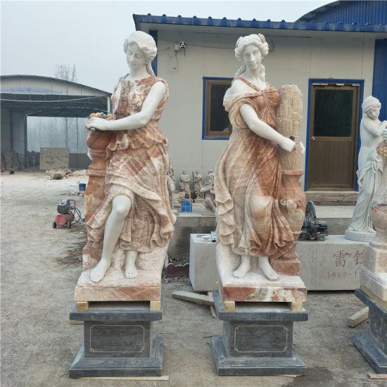 Garden Marble Carvings Four Season Stone Figure Sculpture
