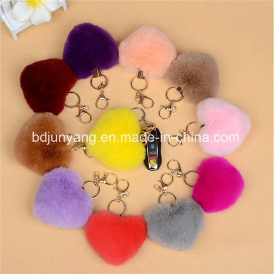 Fake Rabbit Fur Pompom Keychain Bag Hanging pictures & photos