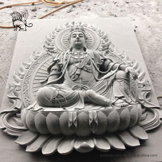 Outdoor Decoration Stone Statue Marble Wall Buddha Relieff Sculpture Mrsd-01