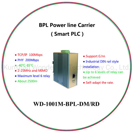 BPL Smart PLC Powerline Ethernet Bridge For Industrial Powerline Communication