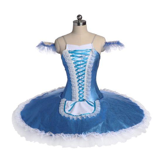 294f984205cab Professional Women Girls Performance Wear Dance Costumes Shiny Blue Ballet  Tutu