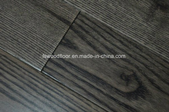 18mm Dark Stained Chinese Ash Solid Wood Flooring