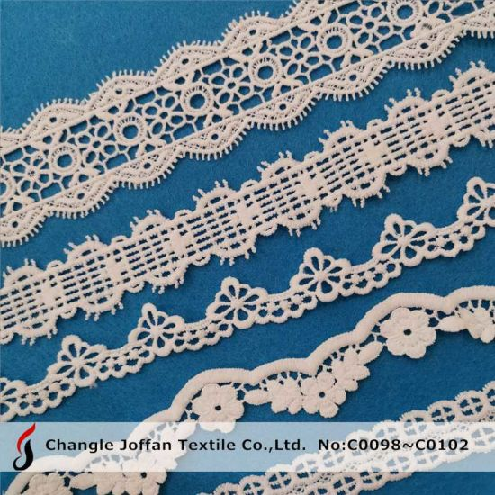 Wholesale Chemical Milk Fiber 100% Polyester Lace (C0098)