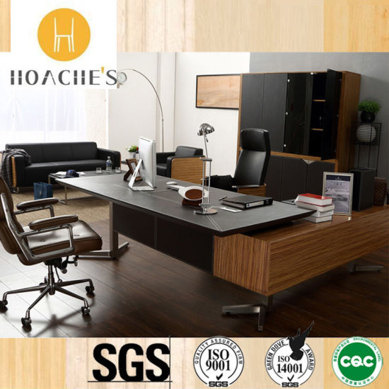 High Class Best Office Table With Leather V5