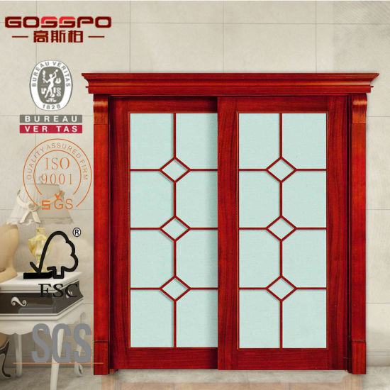 Malaysian Wooden Frame Sliding Glass Doors (GSP3-011)