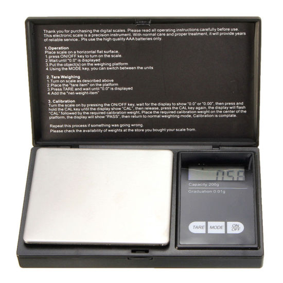 Precision Digital Scales 200g X 0.01g for Powder Grain Jewelry Weighing Scale pictures & photos