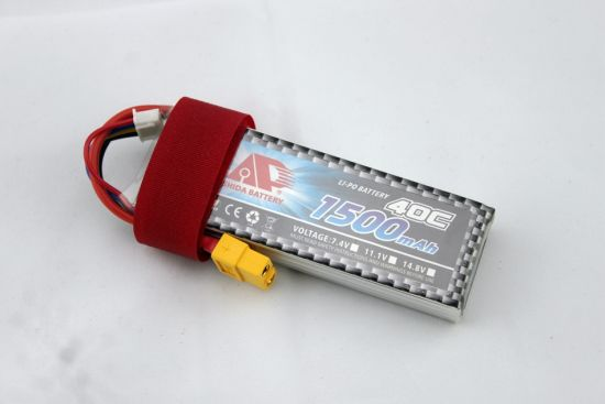 40c 1500mAh Lithium Polymer Battery for Fpv Drone pictures & photos