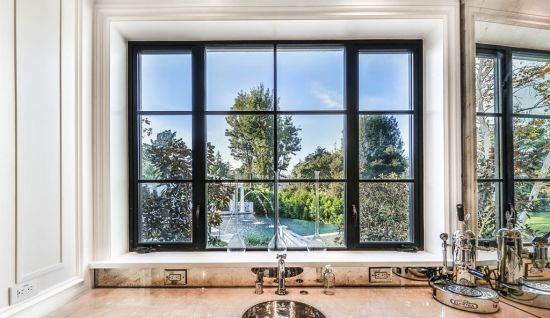As2047 Australia Standard Grid Design Aluminum Casement Window with Double Tempered Glass