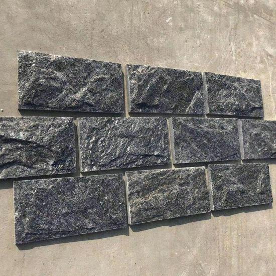 Black Slate Mushroom Tiles Stone Wall Facade for Wall Panel Cladding and Wall Corner