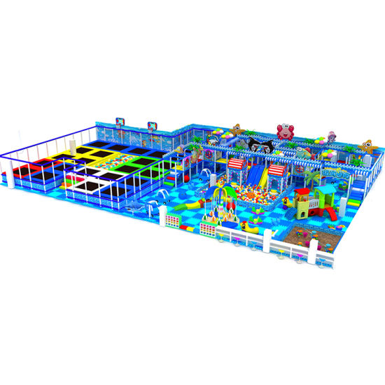 Good Cheap Wholesale Large Children Indoor Soft Indoor Playground and Trampoline Park Equipment