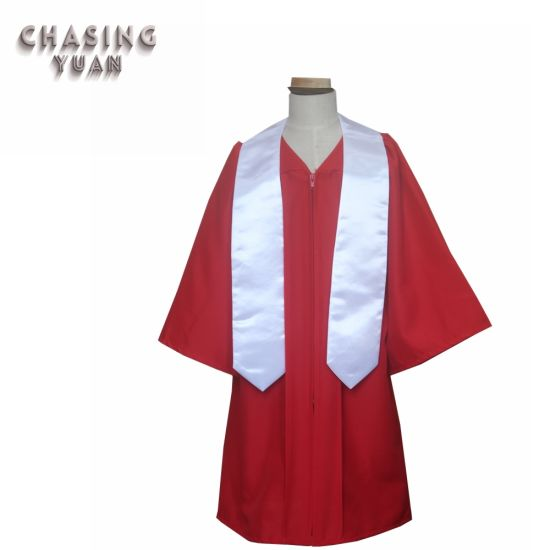 d01dc4d04a6 China Beautiful Primary School Red Graduation Attire - China ...