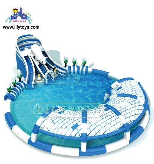 China Inflatable Ground Water Park, Above Ground Pools Water Slides