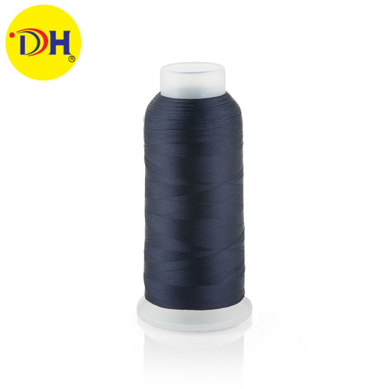 Factory 100% Polyester Embroidery Thread 120d/2 5000y for Embroidery pictures & photos