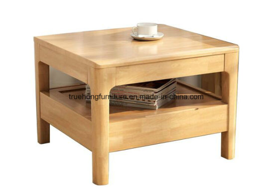 Solid Timber Tea Table Natural Wood