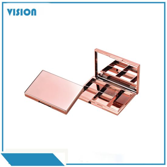 OEM Customized 6 Color Rose Gold Cosmetic Packaging Eyeshadow Box pictures & photos