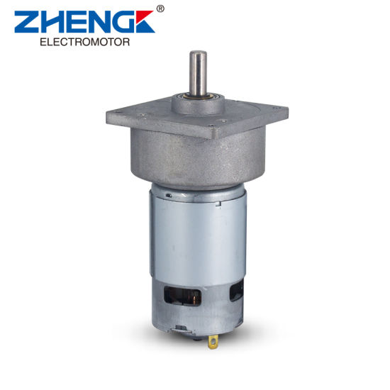 Diameter 60mm 18V DC Permanent Magnet Gear Motor for Electric Vehicle