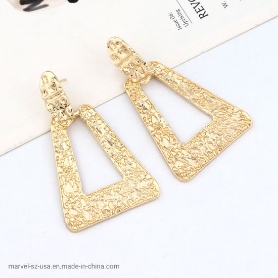 Metal Hanging Earring Geometric Statement Earring Fashion Accessories Jewelry