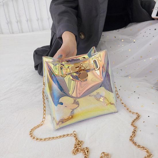 Tote Holographic Bags Transpa Pvc