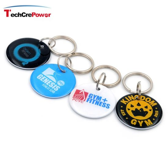 Low Price RFID Epoxy Keyfob Waterproof RFID NFC Epoxy Keyfob Tag with Customized Printing Logo pictures & photos