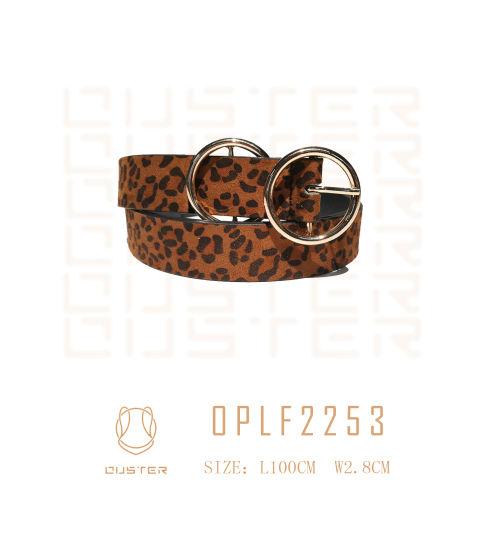 Fashion Belt Fashion Accessories Lady Classic Fashion Leopard Grain PU Belt Women Basic Belt with Metal Loops
