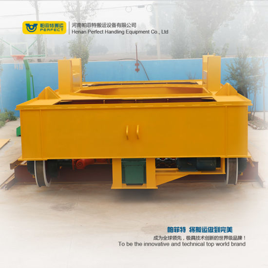 200t Electric Large Table China Rail Transfer Trolley for Ladles pictures & photos