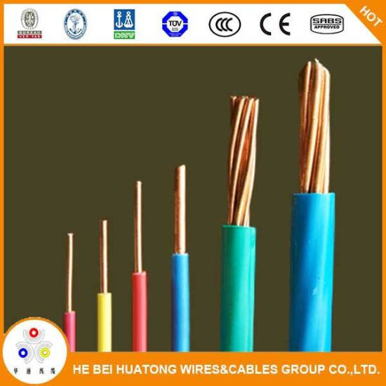 China Ul Listed Single Core Copper 8 10 12 14 Awg Tw Thw