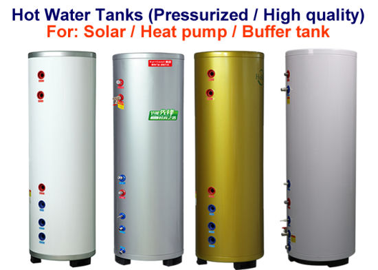 100-600 Litres High Quality and Durable Hot Water Storage Tank for Solar Thermal and Heat Pump Water Heating Systems