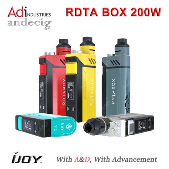 Adi China Wholesale 2016 Ijoy New Box Mod- Rdta Box Mod 200W 5colors
