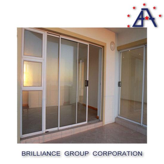 China Aluminium Tempered Glass Sliding Door With Australian Standard