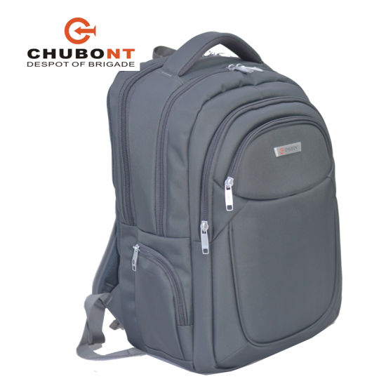 Chubont Factory Laptop Bag Double Shoulder Backpack with Earphone Cable