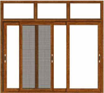 Aluminum Clad Wooden Screen Window Integrated Window