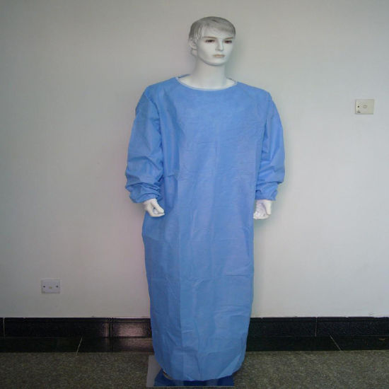 Non Woven/SMS/CPE Medical Gown/Hospital Gown/Surigcal Gown PP Sterile Reinforced pictures & photos