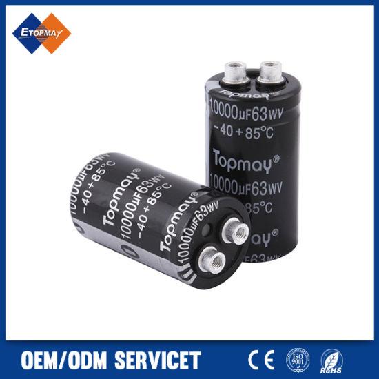 Roadiress 2pcs 63V 6800uF Electrolytic Capacitor 25 /× 50mm 105℃ 63V Electrolytic Capacitor