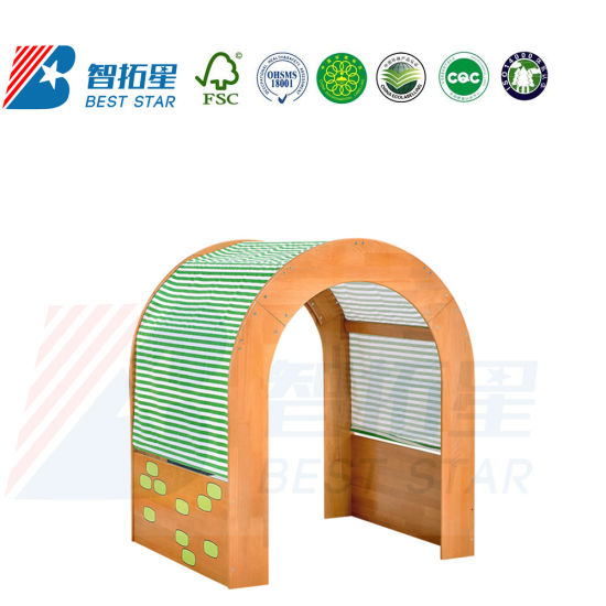 Kids Nursery School Dramatic Play, Kindergarten Preschool Kids Indoor Playground, Dress up and Role-Play Puppet Workstation, Play and Reading Area Furniture