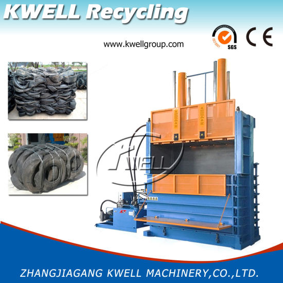 Heavy Duty Tire Baling Machine/Vertical Used Car Tyre Baler/Hydraulic Baler pictures & photos