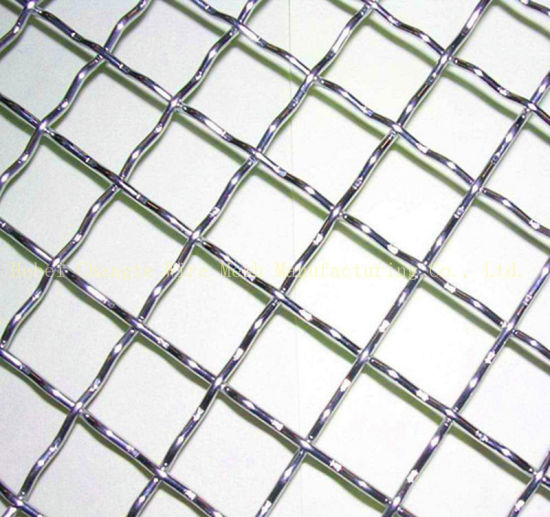 Stainless Steel Wire Mesh in Closed End Crimped Wire Mesh Stainless Steel Weave Wire Mesh