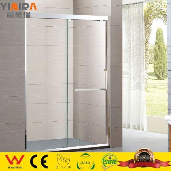 Tempered Glass Wheel Sliding Shower Door Portable Bath Shower Partitions
