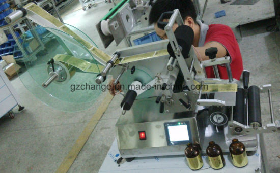 Semiauto Cosmetics Flat Bottles Labeling Machine pictures & photos