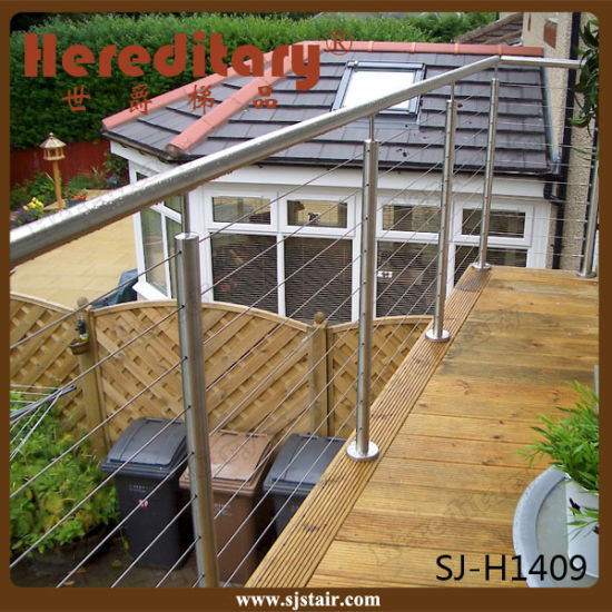 Stainless Steel Cable Railing System For Balcony And Deck (SJ S062)