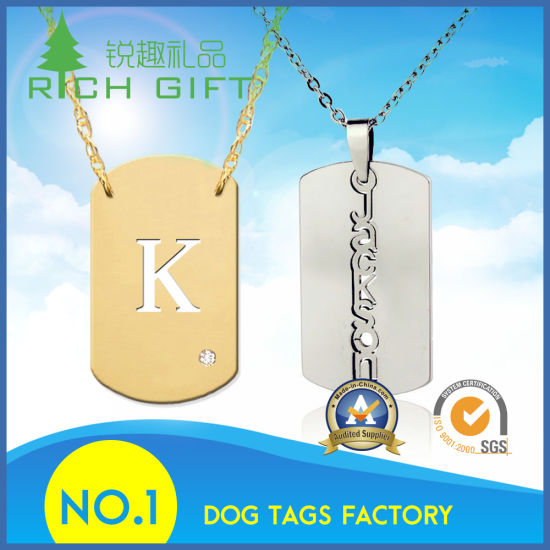 Metal Bone Stamp Silver Stainless Screen Printing Steel Dog Tag Custom Design For Pets