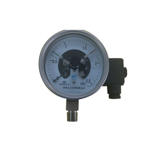 Full Ss 100mm 4 Inch Electric Contact Pressure Gauge
