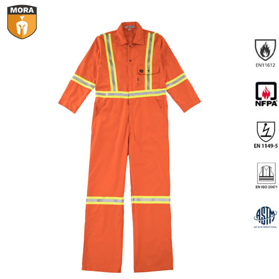 OEM Nfpa 2112 Advanced Cotton Nylon Fr Coverall with Reflective Tape pictures & photos