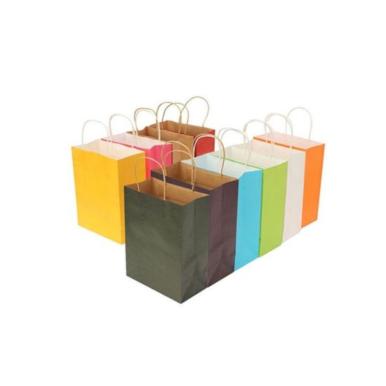 Wholesale Eco Friendly Reusable Shopping Carry Brown Kraft Gift Paper Bag