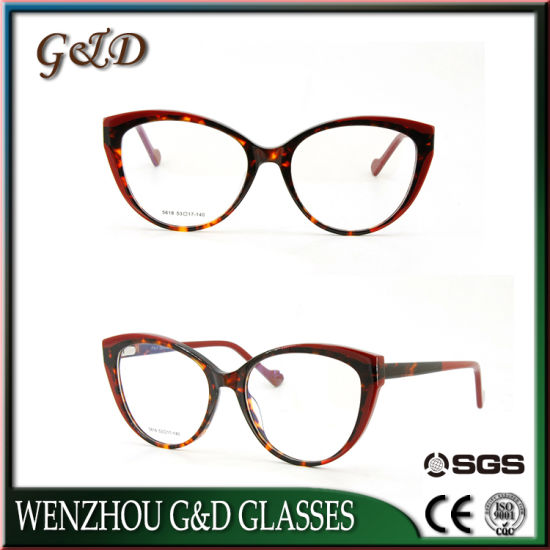 53eb527e863e Fashion New Style Cat Eye Women High Quality Wholesale Acetate Optical  Frame Boutique Eyewear pictures &
