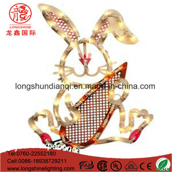 220V IP65 Rabbit LED Rope Light for Easter Decoration