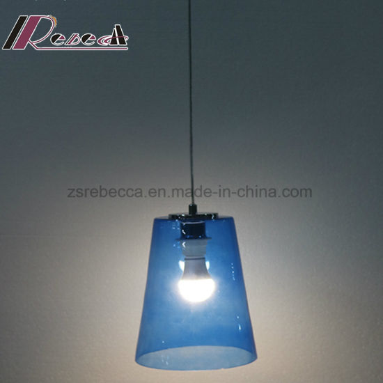 Modern Blue Glass Shade Customized Fishing Pendant Light for Bar pictures & photos