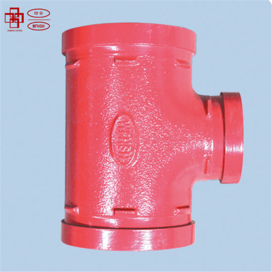 Grooved Pipe Fitting and Coupling Equal Tee with Bolt and Rubber Gaskets