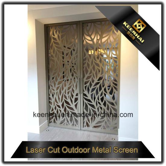 Interior Laser Cut Decorative Aluminum Screen Door