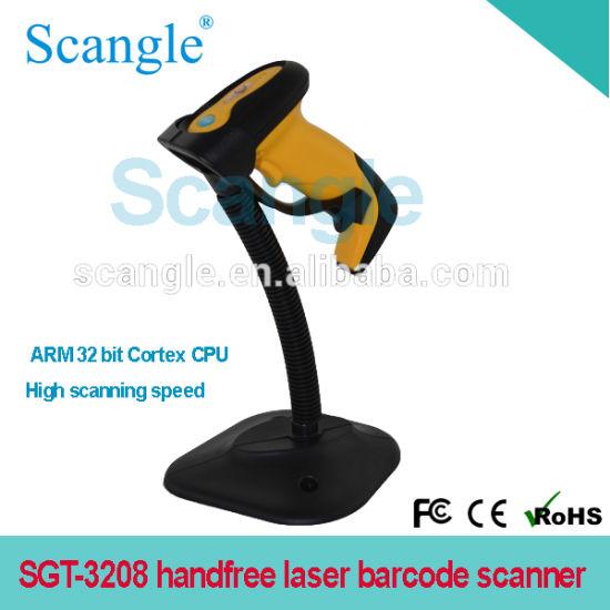Handfree Laser Barcode Scanner/ Reader with 32 Bit